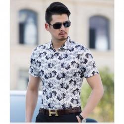 Camisa Florida Masculina Estilo Casual Moda Praia Verão
