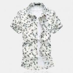 Camisa Casual Masculina Estilo Moderna Verão Praia Jovens