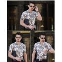 Men's Colorful Floral Shirt Hawaiian Button Short Sleeve Holiday