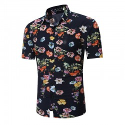 Floral Casual Men's Shirt Style Summer Spring Young