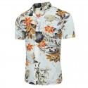 Camisa Casual Masculina Moda Estampada Floral Colorida Praia