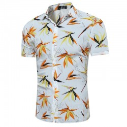 Men's Casual Shirt Printed Colors Cute Summer Fashion