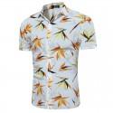 Camisa Casual Masculina Estampada Cores Linda Verão Moda