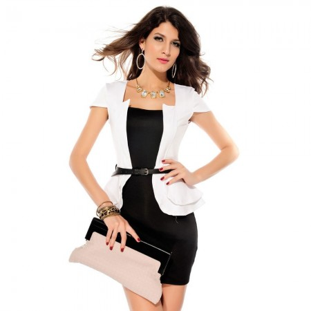 Vestido Social Trabalho Feminino Curto Luxo