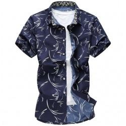 Camisa Masculina Estampada Moda Verão Casual Moderna Jovens