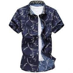 Men's Fashion Printed Shirt Summer Fashion Casual Modern Young