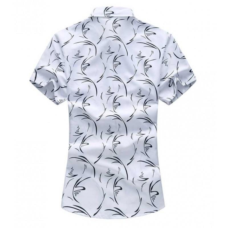 0388bee3e98 Men s Fashion Printed Shirt Summer Fashion Casual Modern Young