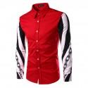 Social Shirt Long Sleeve Men's Print Style Ballads Fashion