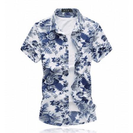 Camisa Floral Masculina Nova Moda Estampadas Linda Estilosa