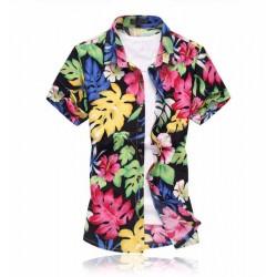 9a57cb2a1f034 Camisa Estampada Masculina Colorida Moda Praia Verão Da Estação