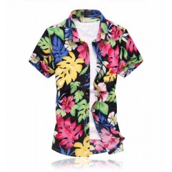 Colorful Men's Print Shirt Summer Beach Fashion From Station