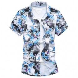 Camisa Masculina Moda Floral Estilo Praia Verão Moderna Nova Tendencia