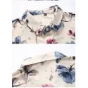 Camisa Casual Masculina Moderna Flores Desenhos Estamapada Linda
