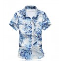 Men's Shirt Printed Flowers Tendency Fashion Station