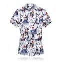 Camisa Masculina Moda Casual Colorida Desenhos Animados Jovens