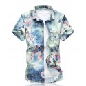 Men's Casual Shirt Modern Floral Style Beach Summer Colorful