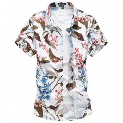 Men's Fashion Shirt Avaian Colorful Tropical Season Trend