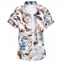 Camisa Moda Masculina Avaiano Colorida Tropical Estação Tendencia