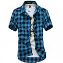 Men's Casual Chiffon Shirt Casual Short Sleeve Summer Fashion Button