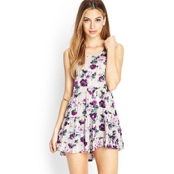 Floral Dress Short White Silhouette Scruffy