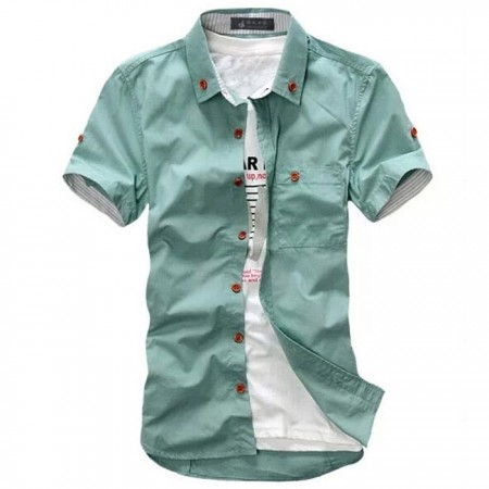 Camisa Masculina Moda Casual Estilo Praia Verão Jovens
