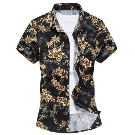 Men's Casual Shirt Fashion Beach Summer Print Florida