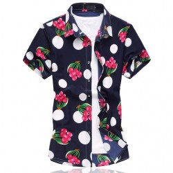 Floral Printed Style Shirt Hawaiian Summer Vacation Men's