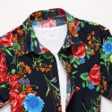 Floral Printed Style Shirt Hawaiian Summer Vacation Men's