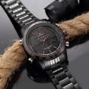Relógio Esporte Masculino Preto em Ceramica Quartzo e Digital