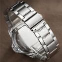 Relógio Masculino Quartzo Elegante Esportivo Preto Cromado Aço Inox