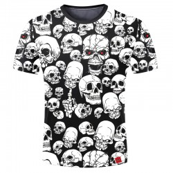 Skull Shirt 3D Stamped Men's Short Sleeve