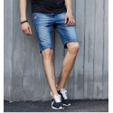 Bermuda Men's Slim Fit Casual Slim Fit Light Blue