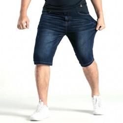 Bermuda Masculina Jeans Escuro Casual Regular Ajustável Lisa Básica