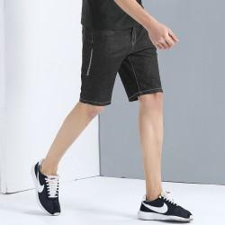 Bermuda Masculina Jeans Grafite Cinza Escuro Slim Fit Justa nas Pernas