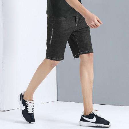 Bermuda Men's Jeans Dark Gray Grain Slim Fit Just In The Legs