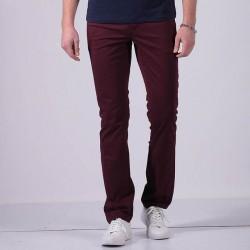 Calça Masculina Reta Casual Jeans Slim Cor Vinho Caramel e Preta