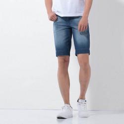 Bermuda Jeans Masculina Slim Fit Casual Estilo Limpo Moda Verão