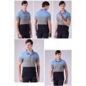 Men's Polo Shirt Striped Sport Thin Cotton Short Sleeve