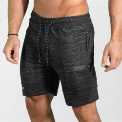 Men's Casual Short Navy Blue Above Knee Adjustable Workout