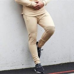Calça de Moletom Casual Masculina Esporte Confortável Skinny Conjunto