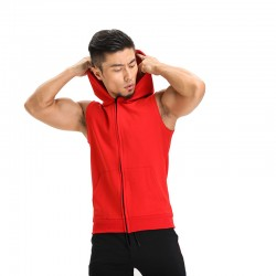 Hooded vest Race Male Training Academy for Sport Zipper