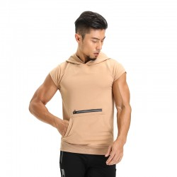 Men's Training Tank Top Sport Hoody Justa Kangaroo Pocket   with discount