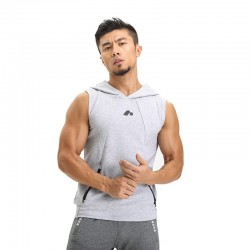 Men's Sport Tank Top Hooded Training Confortave Brand