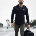 Men's Fitness Hooded Zipper Sports Sweatshirt