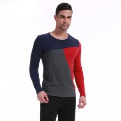 Camiseta de Frio Manga Longa Masculina Casual Confortável Justa