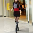 Winter Dress Tricot Short Sleeve Long Womenswear
