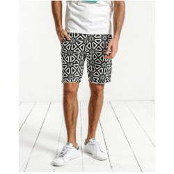 Bermuda Casual Mens Print Black and White Fashion Beach Summer