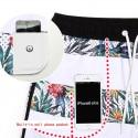 Short Tactel Male Striped Fashion Beach Tropical Floral Pattern