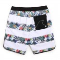 Short Tactel Male Striped Fashion Beach Tropical Floral Pattern