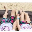 Bermuda de Banho Masculina Moda Praia Estampa Floral Férias